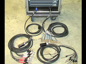 EQ rack front with multipin tails